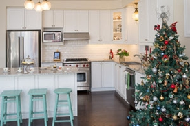 Christmas Tree in Kitchen