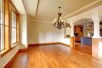 inside of a home with wooden floors
