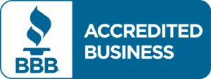 Badge of Better Business Bureau accreditation